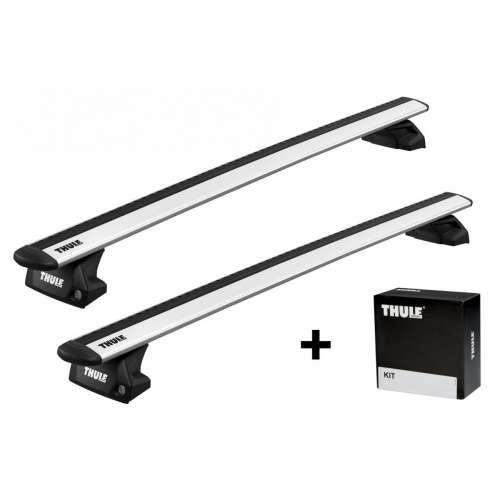 Bagażnik na reling zitegrowany Thule WingBar Evo + stopy Evo Flush Rail + kit mocujący - srebrny