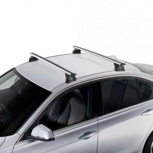 Bagażnik dachowy montowany w miejsca fabryczne CRUZ AIRO Fix + zestaw mocujący - srebrny