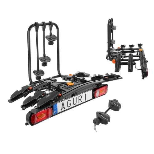 Bagażnik rowerowy na hak Active Bike czarny - 3 rowery