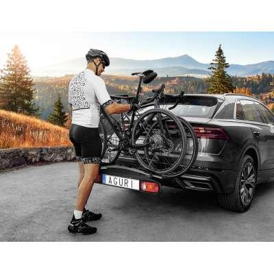 Bagażnik rowerowy na hak Active Bike srebrny - 4 rowery