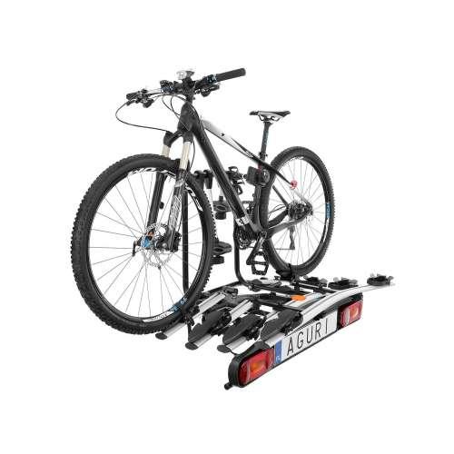 Bagażnik rowerowy na hak Active Bike srebny - 3 rowery